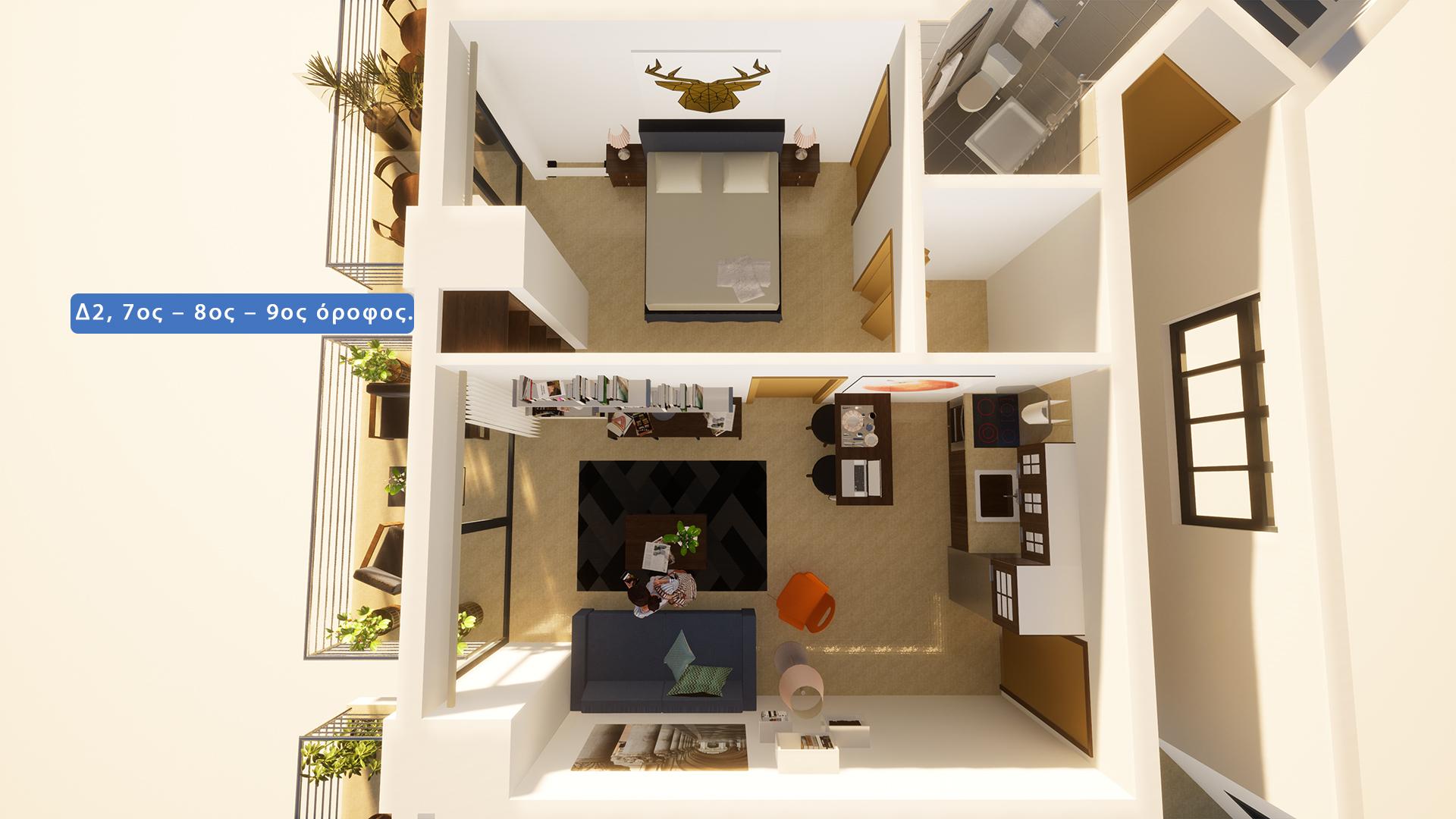 Δ2, (7ος - 8ος - 9ος) όροφος