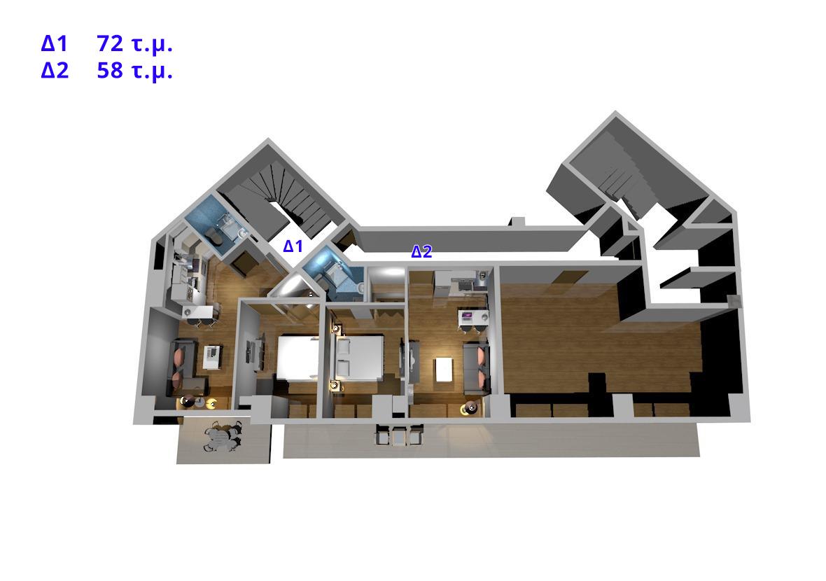 Δ1,Δ2, 4ος όροφος
